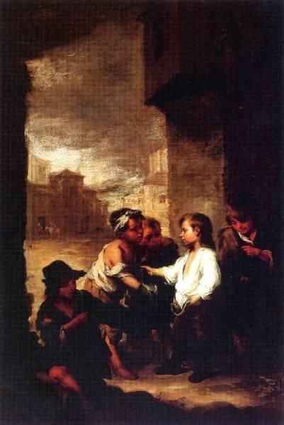 Святой Фома Вильянуэво делится своей одеждой, ок.1670