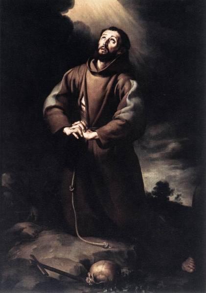 Святой Франциск Ассизский в молитве, ок.1647