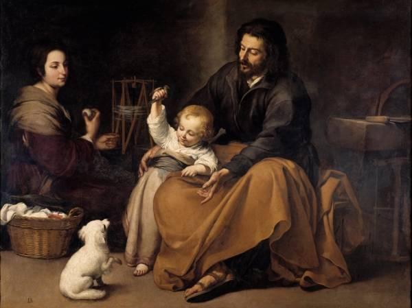 Святое семейство с птичкой,