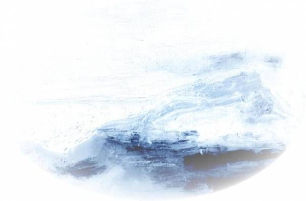 Скалы под снегом