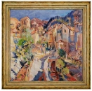 Керамическая картина по мотивам работы Константина Коровина «В окрестностях Ниццы»