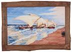 Керамическая картина по мотивам работы Хоакина Соролья и Бастида «Лодки Валенсии»