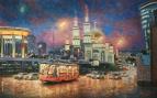 Вечерний свет Москвы /  Игорь Разживин