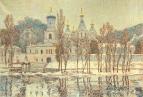 Первый снег. Святогорская Лавра