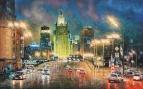 Огни ночной Москвы. МИД /  Игорь Разживин