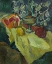 Натюрморт с керасинкой и грейпфрутом