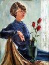 Дама с красными розами