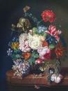 Вольная копия Josef Holstayn Цветы и виноград