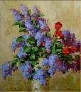 Сирень с тюльпанами