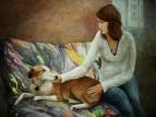 Девушка с собакой Blu