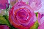 Розовая роза 3