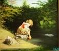 Девочка у родника (с картины И. Гелера)