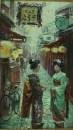 Улица в старом Киото после дождя