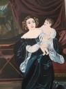 Княгиня Ольга с дочькой репродукция картина К.Брюлова