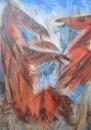 Красные кони на синей траве
