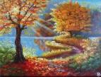 Играет красками природа, опять осенняя пора...
