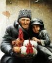 Старик с внучкой /  Виктор Арсени