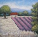 Пейзаж с цветущей лавандой /  Юлия Миронова