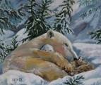 В объятьях белой, снежной тишины