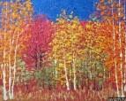 Картина Осенний пейзаж Тропаревский парк импрессионизм 2