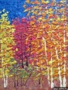 Картина Осенний пейзаж Тропаревский парк импрессионизм