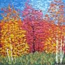 Картина Осенний пейзаж Тропаревский парк импрессионизм 1