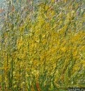 Картина Желтые полевые цветы Золотарник или Золотая розга /  Екатерина Лебедева