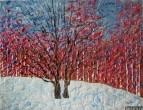 Картина Зимний пейзаж Дуб Тропаревский парк