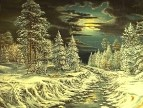 Лунный рассвет.Зимняя фантазия