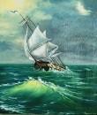 Морской сюжет по Айвазовскому