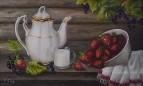 натюрморт с ягодами