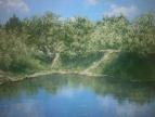 Глядится лето в зеркало воды