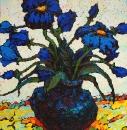 Синие цветы. Эскиз.