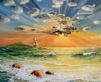 Спокойное море в Золотистых лучах