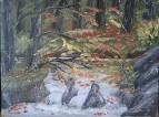 Водопад под сенью осени