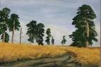 копия картины И. Шишкина «Рожь»