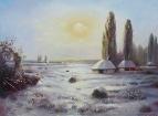 Украинский хутор зимой /  Александр Коваль