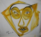 Желтый мим Yellow mime