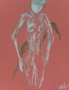 Обнаженная фигура на красном