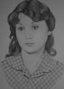 девушка, со старой фотографии