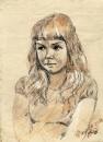 Портрет девочки-зарисовка