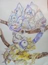 акварельные хамелеоны