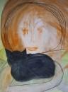 Сон черного кота и его рыжей хозяйки