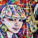 Девушка и саксофонист