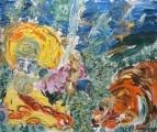 Картина Серафим Саровский и медведь Екатерина Лебедева Лавизм