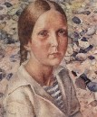 Девочка на пляже. 1925