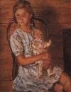 Девочка с куклой. 1937