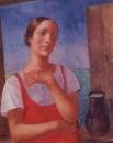 Девушка в сарафане. 1928