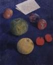 Фрукты на синей скатерти. 1921