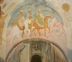 Собор Рождества Богородицы. Разрез по западному поперечному нефу. Вид на восток. «Проповедницы богон